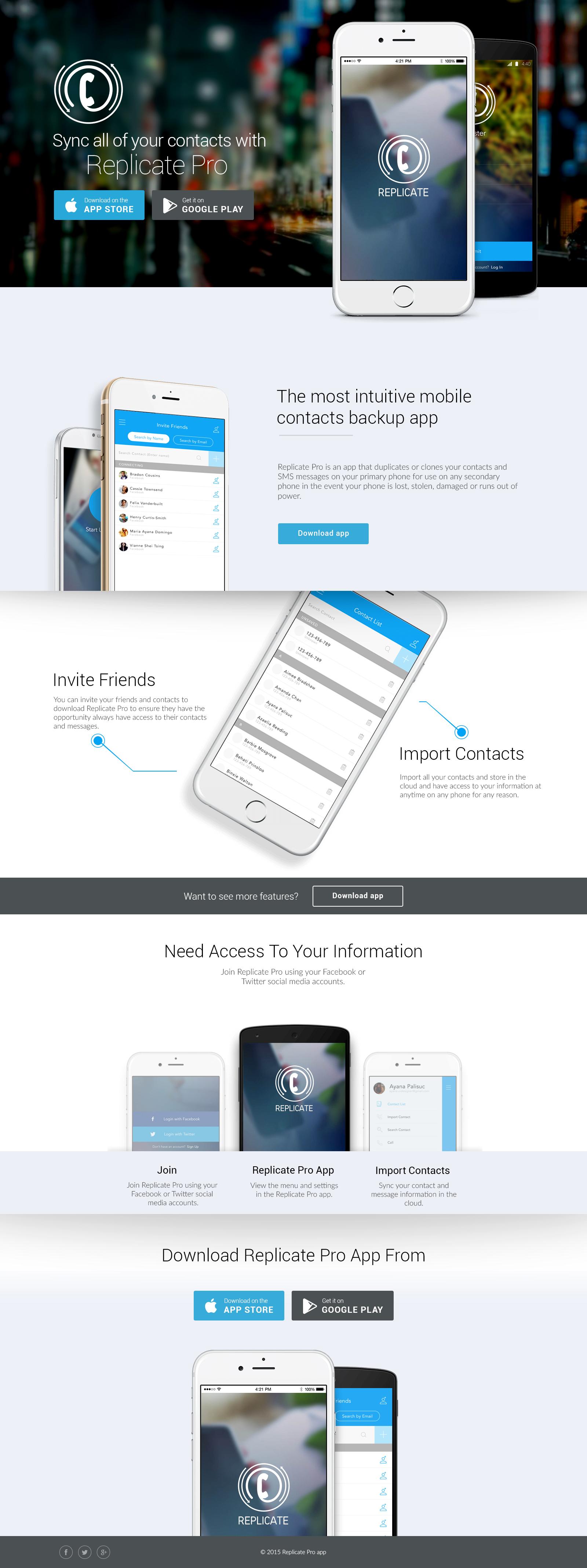 landing page - Replicate app